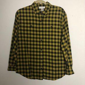 Jones New York checkered button down shirt 10